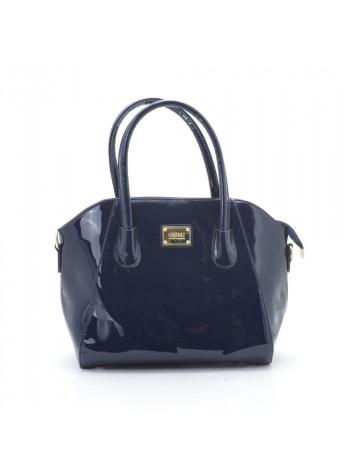 Вместительная женская лакированная сумка с ручками