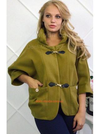 Жіноче легке пальто із рукавом три чверті для повних
