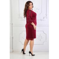 Жіноче трикотажне плаття зі стразами великого розміру