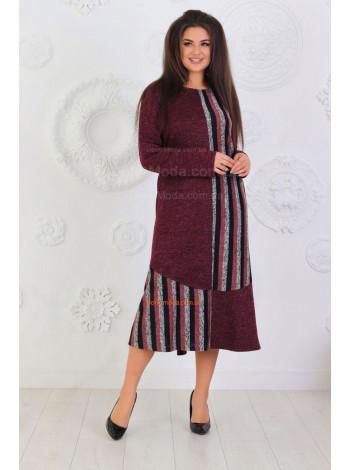 Жіноче тепле повсякденне плаття великого розміру