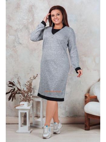 Женское повседневное теплое платье большого размера