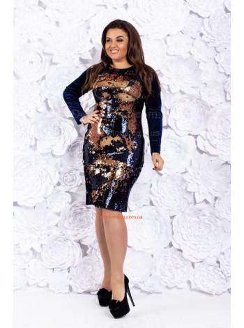 Вечернее стильное платье для полных девушек