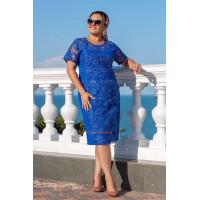 Літня вечірня сукня із вишивкою великого розміру