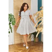 Модне літнє плаття із пишною спідницею для повних