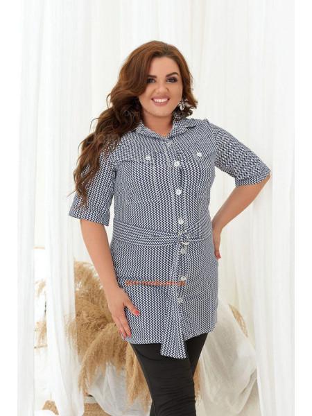 Удлиненная рубашка для полных