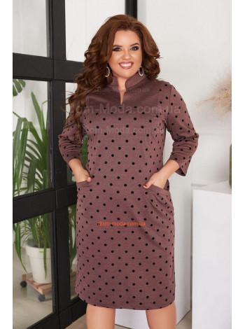 Недорогое трикотажное платье для полных женщин