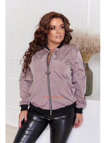 Женская молодежная куртка бомбер большого размера