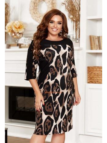 Жіноче леопардове плаття великого розміру