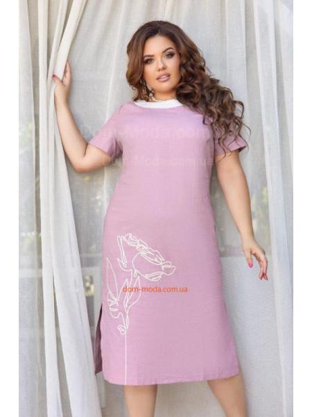 Літня сукня з льону великого розміру