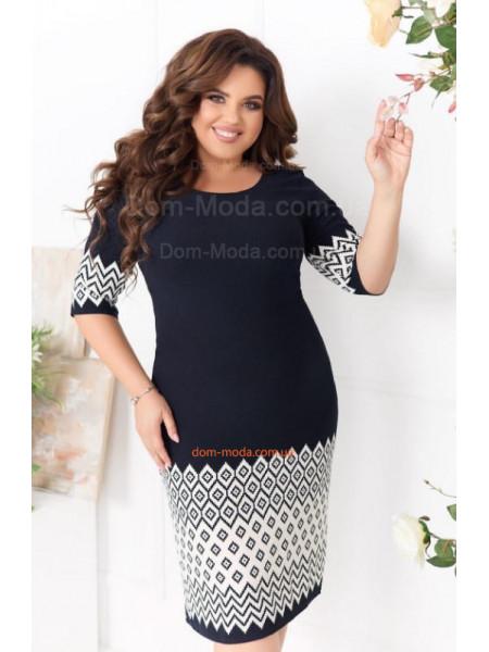 Жіноча сукня великого розміру (принт ромб)