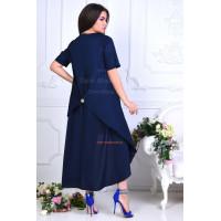 Длинное асимметричное летнее платье для полных женщин