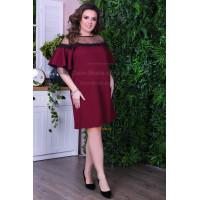 Короткое женское свободное платье большого размера