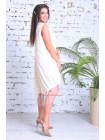 Летнее свободное платье с сеткой для полных