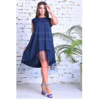 Літнє вільне плаття з сіткою для повних
