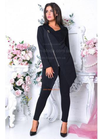 Женский модный спортивный костюм с лосинами и кофтой на замке