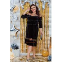 Оксамитова сукня міді для повних