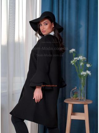 Елегантне пальто жіноче великого розміру