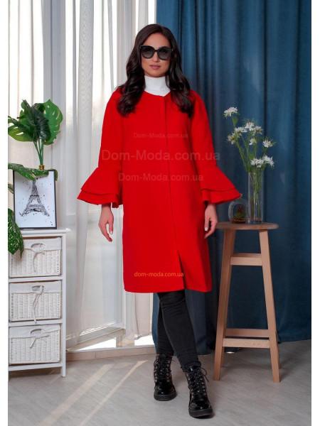Элегантное пальто женское большого размера