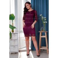 Модное женское гипюровое платье большого размера