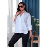 Асимметричная женская рубашка большого размера