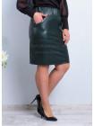 Короткая кожаная юбка для полных