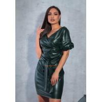 Короткое кожаное платье большого размера