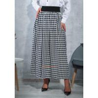 Длинная юбка на резинке для полных