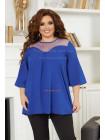 Жіноча стильна шифонова блуза великого розміру
