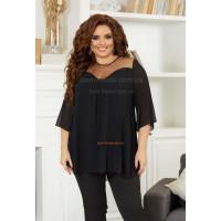 Женская стильная шифоновая блуза большого размера