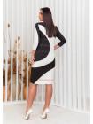 Коротке жіноче плаття двокольорове