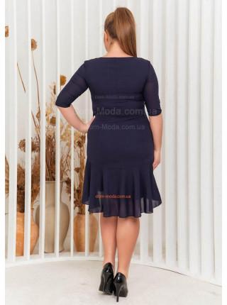 Шифоновое платье батал