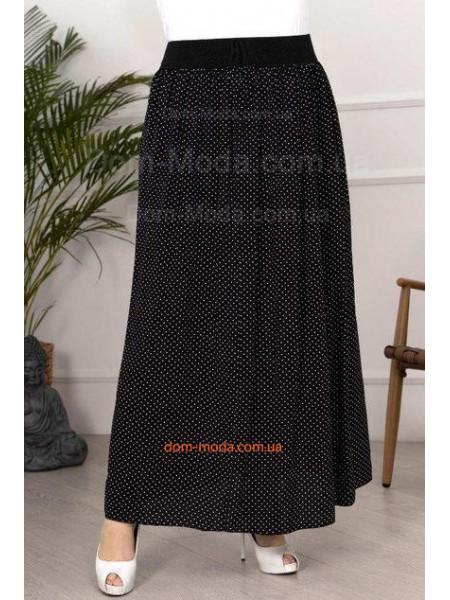 Длинная юбка в горошек