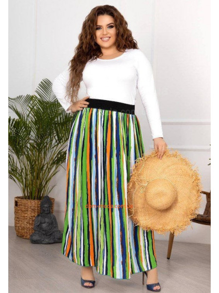 Длинная юбка в полоску