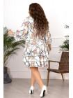 Платье с цветочным принтом для полных