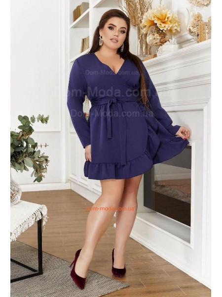 Коротке плаття з запахом великого розміру