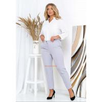 Модные зауженные женские брюки большого размера
