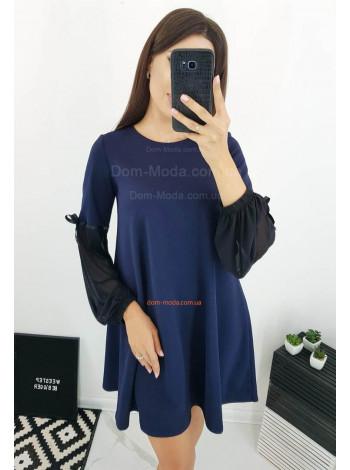 Женское короткое платье свободного фасона