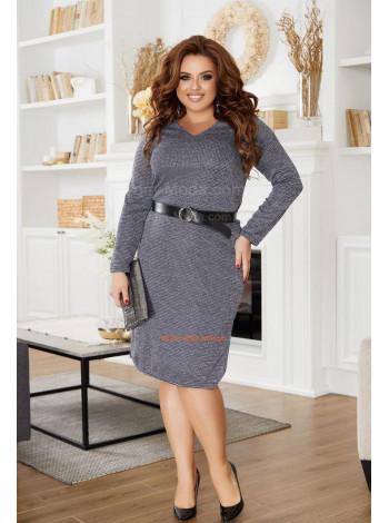 Тепла сукня з ангори для повних жінок