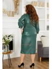 Елегантне шкіряне плаття міді