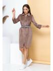 Короткое платье с длинным рукавом из велюра