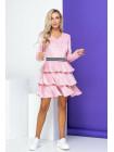 Модне велюрове плаття з довгим рукавом