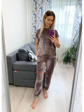 Жіноча піжама з велюру