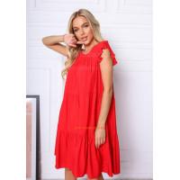 Женское короткое платье летнее свободного кроя