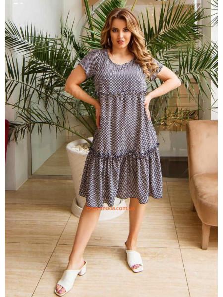 Літнє плаття вільного крою великого розміру