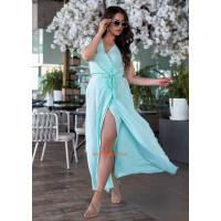 Длинное летнее платье в полоску большого размера