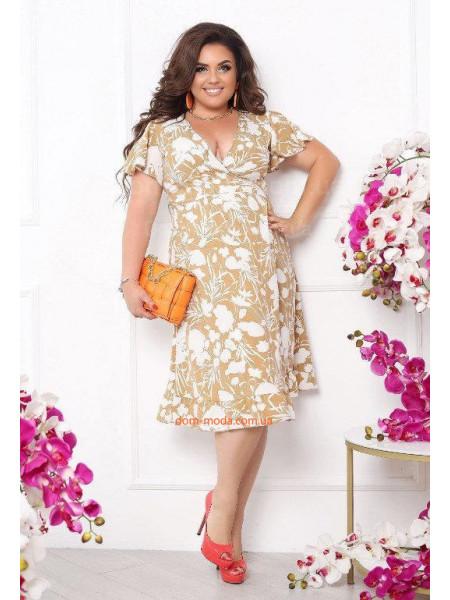 Літнє плаття на запах великого розміру