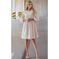 Недорогое платье вельветовое с длинным рукавом