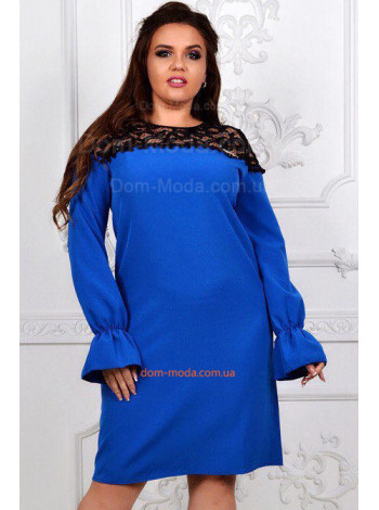 Женское короткое нарядное платье с украшением