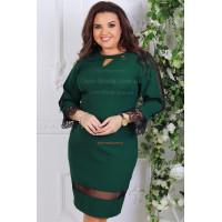 Жіноче ділове плаття до коліна з рукавом великого розміру