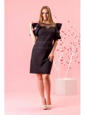 """Короткое модное платье с коротким рукавом """"Делайн"""""""